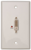 DVI Over Cat5 Passive Extender Remote Wallplate -- B140-1P0-WP