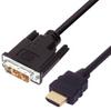 Premium DVI to HDMI Cable Assembly, HDMI-M/DVI-D Single Link-M 3.0M -- MDA00049-3M