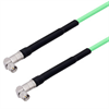 Low Loss SMA Male Right Angle to SMA Male Right Angle Cable Assembly with Heavy Duty Heat Shrink Boot using LL142 Coax, 10 FT -- LCCA30031-FT10 -Image