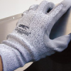 QRP Qualakote GPSPH Black/Gray/White Small Nylon/UHMWPE Cut-Resistant Gloves - ANSI 2, EN 388 3 Cut Resistance - Polyurethane Palm Coating - GPSPH SM -- GPSPH SM