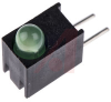 INDICATOR, CIRCUIT BOARD, LED, 3MM, LOWCURRENT, .200HIGH CENTERLINE, GREEN -- 70081746