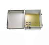 14x12x07 Fiberglass Reinf Polyester FRP Weatherproof Outdoor IP66 NEMA 4 Enclosure, 120 VAC, Terminal Block Drilled Mount Gray -- TEF141207-100T -Image