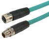 Category 6a M12 8 Position X code SF/UTP Industrial Cable, M12 M/M12 F, 10.0m -- TAA00013-10M -Image