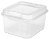 Small Clear Sterilite® FlipTops Storage Boxes - 7-5/8