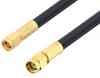 SMA Male to Reverse Polarity SMA Male Cable 24 Inch Length Using LMR-240 Coax -- PE3W00906-24 -Image
