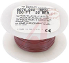 WIRE, HOOK UP, 26AWG, SOLID, SEMI RIGIDPVC, 300V, UL 1061 RED -- 70002755