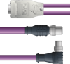 LAPP UNITRONIC® PROFIBUS® D-Sub Y-Cordset to Straight Module - 5 positions male M12 straight and 5 positions male M12 90° to 9 positions D-sub straight - Violet PVC - Stationary - 1m -- OLFPB4110156S01 -Image