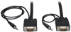 VGA Coax Monitor Cable with Audio, High Resolution Cable with RGB Coax (HD15 and 3.5mm M/M), 30-ft. -- P504-030