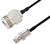 BNC Female to N Female Cable Assembly using LC085TBJ Coax, 6 FT -- LCCA30639-FT6 -Image