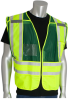 PIP 302-PSV Yellow/Green M/XL Mesh/Solid High-Visibility Vest - 2 Pockets - 616314-07320 -- 616314-07320