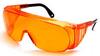 Loctite Polycarbonate Standard Safety Glasses Orange Lens - Wrap Around Frame - 079340-98452 -- 079340-98452