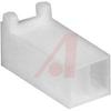 Connector; Nylon; Receptacle; 2; White;Crimp; 180 deg; 0.1 in.; UL 94V-0 -- 70083797