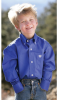 Blue Pinpoint Long Sleeve Shirt - Boys -- CINCH-MTW7060028