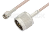 SMA Male to N Male Cable 12 Inch Length Using RG316-DS Coax, RoHS -- PE3957LF-12 -Image