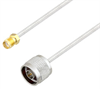 SMA Female to N Male Cable Assembly using LC085TB Coax, 6 FT -- LCCA30547-FT6 -Image