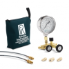 QTCM manifold, 3000 PSIG analog gauge, 20ft, 2ft hoses, (2) 1/4†MNPT process conn., nylon bag -- QTCM-3KPSIG-M