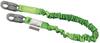 Manyard II Stretchable Shock-Absorbing Lanyards - single leg, snap hook & snap hook, ANSI Z359-2007 compliant > UOM - Each -- 216M-Z7/6FTGN -- View Larger Image