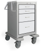 4 Drawer Junior Short Steel Bedside/Slim Cart -- JSGKU-3369-LTG