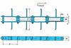 RF Flow Conveyor Chains for FC Type Horizontal Flow Conveyor - L Attachment