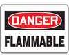 MCHD05BVA - Safety Sign, Danger - Flammable, 7