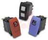Switch, Rocker, Double Pole, (ON)-OFF-(ON), 20 Amp, 12V, Black Actuator -- 70131650 - Image