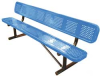 Bench,Perforated Metal,Blue,Length 96 In -- 4HUU4