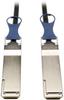 QSFP+ to QSFP+ 40Gb Passive DAC Copper Infiniband Cable, QSFP-H40G-CU3M Compatible, 3M (10-ft.) -- N282-03M-BK - Image