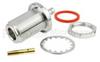 N Female (Jack) Bulkhead Connector For LMR-200 Cable , .640 inch DD Hole, Crimp/Solder