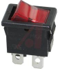 Switch, Rocker, DPST, Snap-In POWER, DPST, ON-NONE-OFF, QUICK CONNECT -- 70191982 - Image
