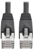 Cat6a 10G-Certified Snagless Shielded STP Network Patch Cable (RJ45 M/M), PoE, Black, 20 ft. -- N262-020-BK