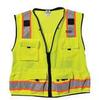 Hi Visibility Vest,Class 2,3XL,Lime -- 9XTY9