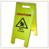 WET FLOOR - Easel Style Caution Sign