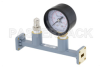 WR-34 Waveguide Pressurizing Section 4.25 Inch Length, UG-1530/U Square Cover Flange from 20 GHz to 33 GHz -- PEWSP1002 - Image