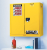 Justrite Sure-Grip EX 20 gal Yellow Hazardous Material Storage Cabinet - 43 in Width - 44 in Height - Wall Mount - 697841-11369 -- 697841-11369