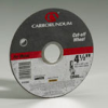 Carbo Metal Reinforced Aluminum Oxide Abrasive -- Right Angle Grinder Cut-off Wheels