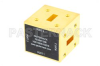 WR-42 Waveguide Magic Tee, UG-595/U Square Cover Flange Operating from 18 GHz to 26.5 GHz -- PEWMT1006 - Image