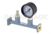 WR-42 Waveguide Pressurizing Section 4.25 Inch Length, UG-595/U Square Cover Flange from 18 GHz to 26.5 GHz -- PEWSP1003 - Image