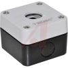 Enclosure for 22mm Pushbutton, 1 opr, Thermoplastic, Wht/Blk, 51Lx68Wx68H mm -- 70074665 - Image