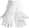 Global Glove Gray Large Split Leather Welding Glove - Wing Thumb - 1200GE LG -- 1200GE LG