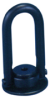 Round Base Swivel & Pivot Hoist Ring: 1-1/4-7 Thread, Rated Load: 15,000 lbs. -- AK44704