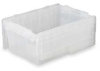 Attached Lid Container,D 21 13/16,Clear -- 3CLV1