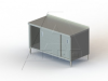 "TSSOD Series, Stainless Steel Cabinet with 2 3/4"" Backsplash NSF Listed -- 4TSSOD-24120 - Image"