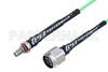 N Male to SMA Female Bulkhead Low Loss Cable 24 Inch Length Using PE-P160LL Coax -- PE3C5277-24 -Image