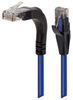 Category 6 Right Angle Patch Cable, Stackable, Blue, 5.0 ft -- TRD695RA15BLU-5 -Image