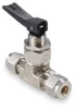 Toggle Valve,1/4 In,Tube,Brass -- 3ZVU8