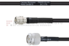 SMA Male to TNC Male MIL-DTL-17 Cable M17/28-RG58 Coax in 12 Inch -- FMHR0122-12 -Image