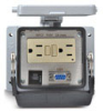 Size 32B Panel Interface Connector: (1) outlet, (1) DB9 -- ZP-PGA-32-200
