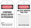 Confined Space Tags -- 50282
