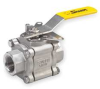 Ball Valve,3 PC,Stainless Steel,1 In -- 1PPU3