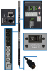 3-Phase Switched PDU, 12.6 kW, 30 208V outlets (24 C13, 6 C19) current metering per phase, 6 ft. Cord, Hubbell CS8365C 50A 208V input, 0U vertical mount, TAA Compliant -- PDU3VS6H50